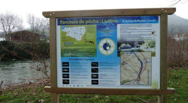 """Parcours pêche """"No kill"""" sur la Nive à St martin d'Arrossa"""